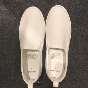White basic slip on shoes
